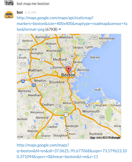 Hubot map me Boston